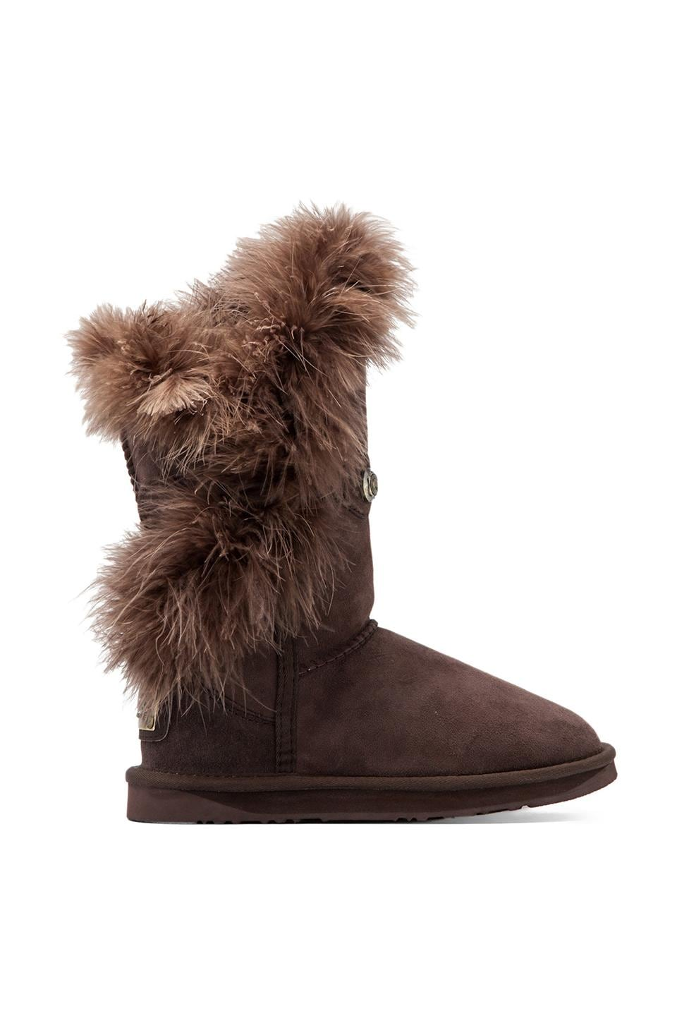 Australia Luxe Collective Nordic Feather Short Boot with Sheep Shearling  in Beva