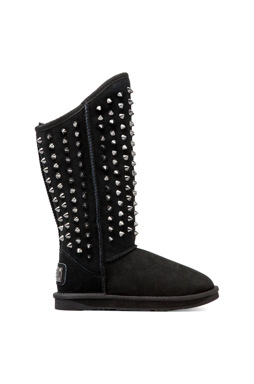 Australia Luxe Collective Pistol Tall Boot with Sheep Shearling in Black