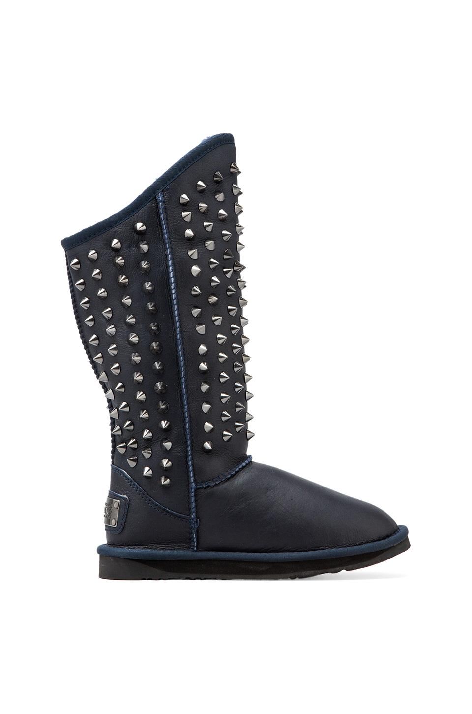 Australia Luxe Collective Pistol Tall Boot with Sheepskin in Navy