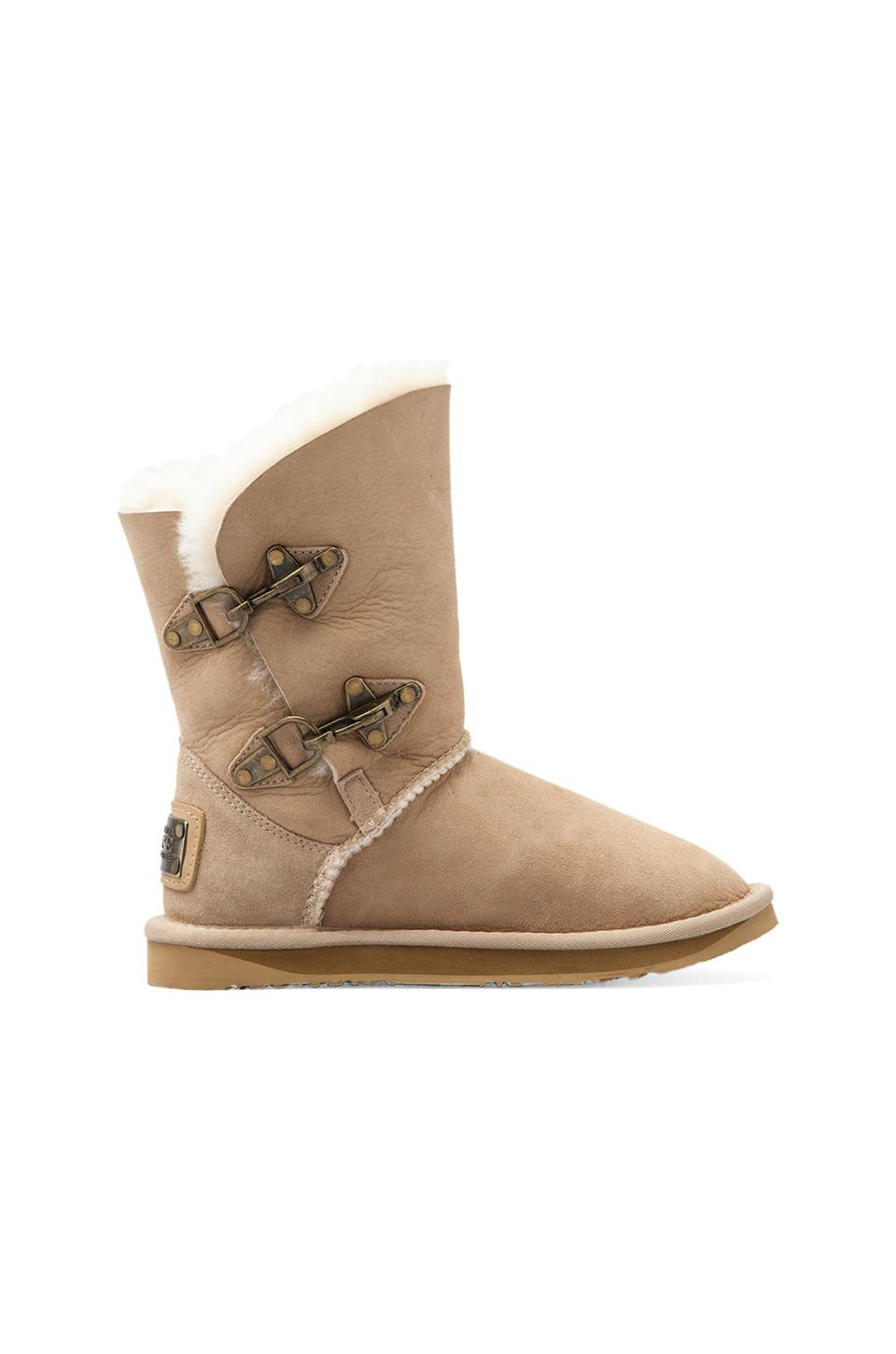 Australia Luxe Collective Renegade Short Boot with Sheep Shearling in Sand