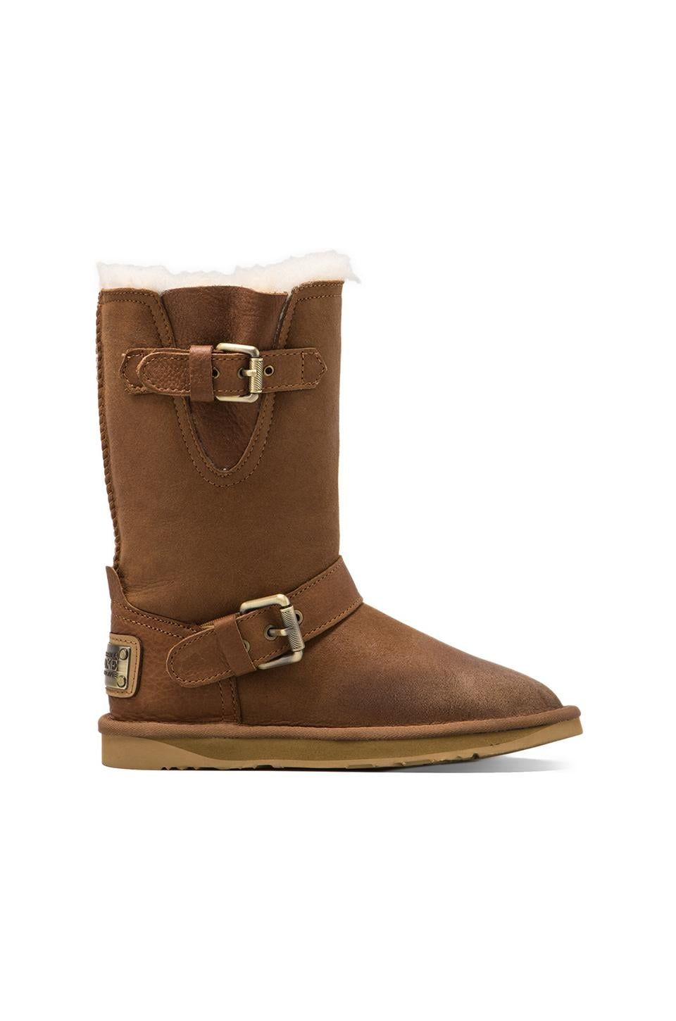 Australia Luxe Collective Machina Boot With Sheep Shearling in Chestnut
