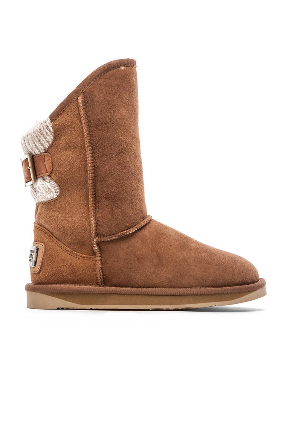Australia Luxe Collective Spartan Knit Short Boot in Chestnut