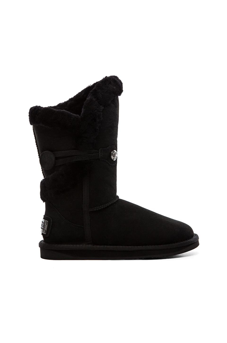 Australia Luxe Collective Nordic Shearling Short Boot with Fur in Black