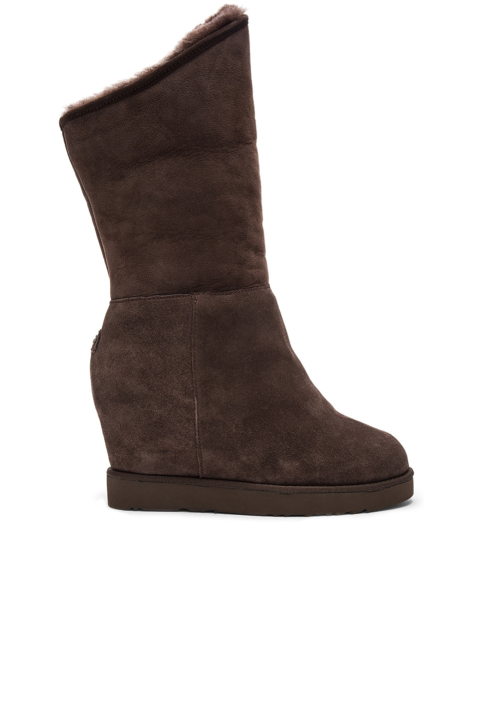 Photo of Cosy Shearling Lined Tall Wedge Boot by Australia Luxe Collective shoes