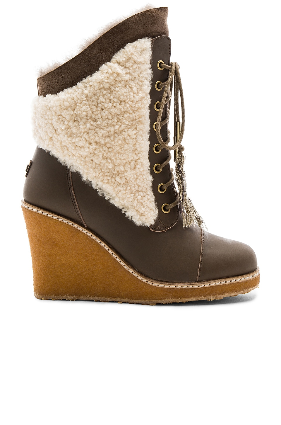 Australia Luxe Collective Meditere Sheep Shearling Boot in Mortar