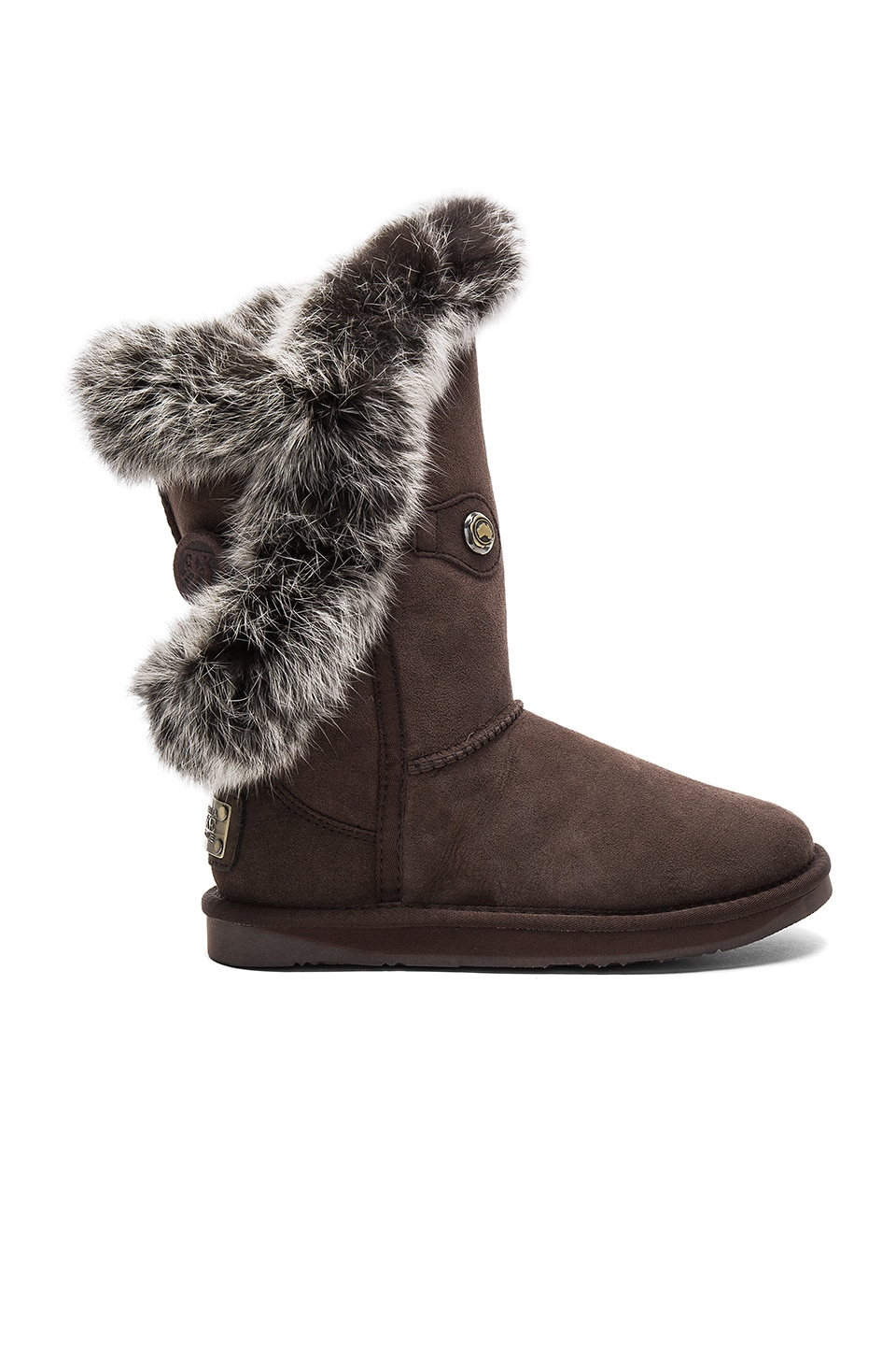 Photo of Nordic Angel Short Rabbit Fur and Shearling Boot by Australia Luxe Collective shoes