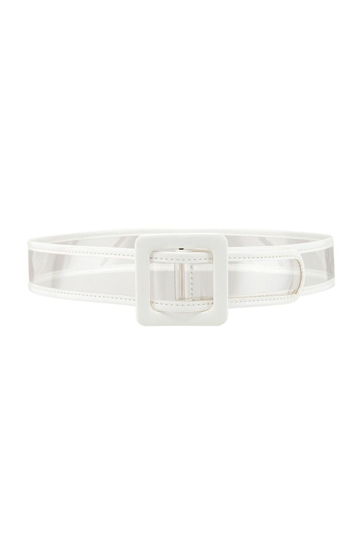 Lovers + Friends Taryn Belt in Clear & White