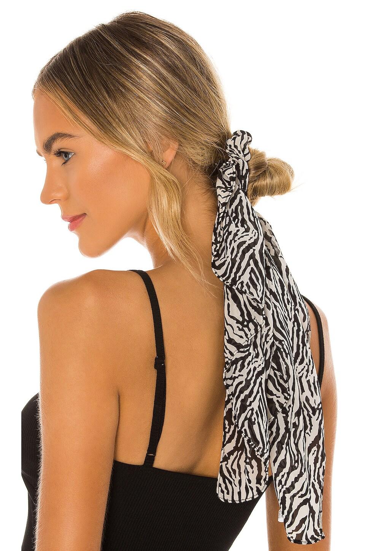 Lovers + Friends Mala Scrunchie in Zebra