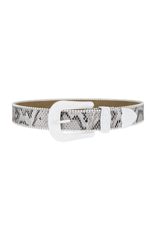 Lovers + Friends Velma Belt in White & Snake