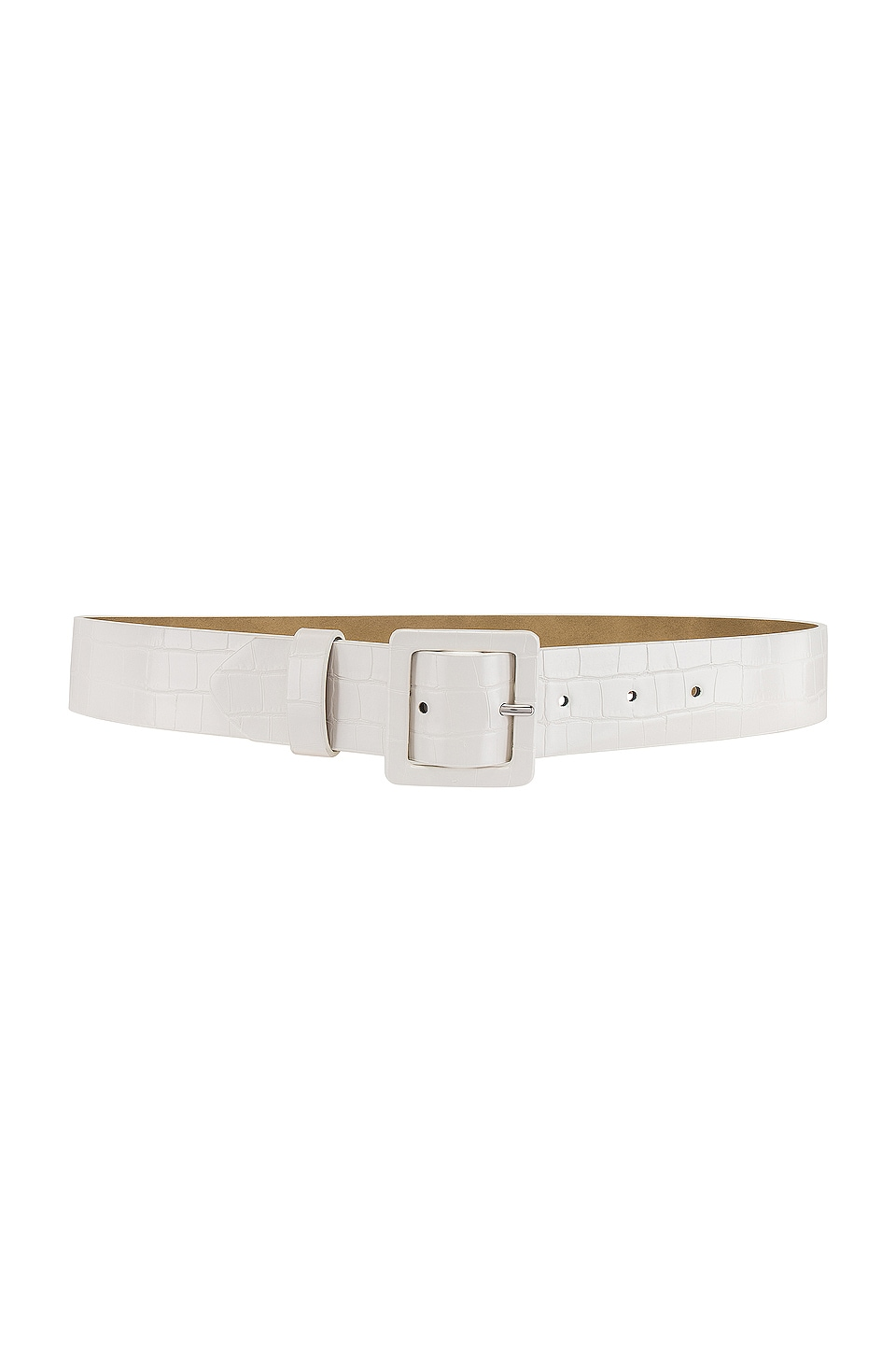 Lovers + Friends Gerri Belt in White Croco