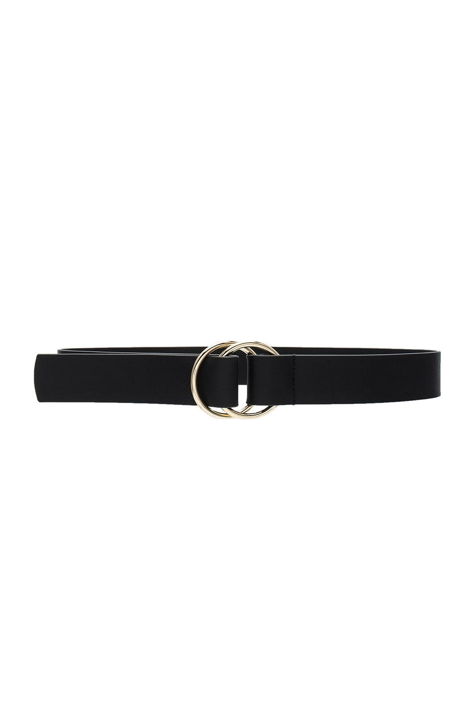 Lovers + Friends Bailey Belt in Black Leather