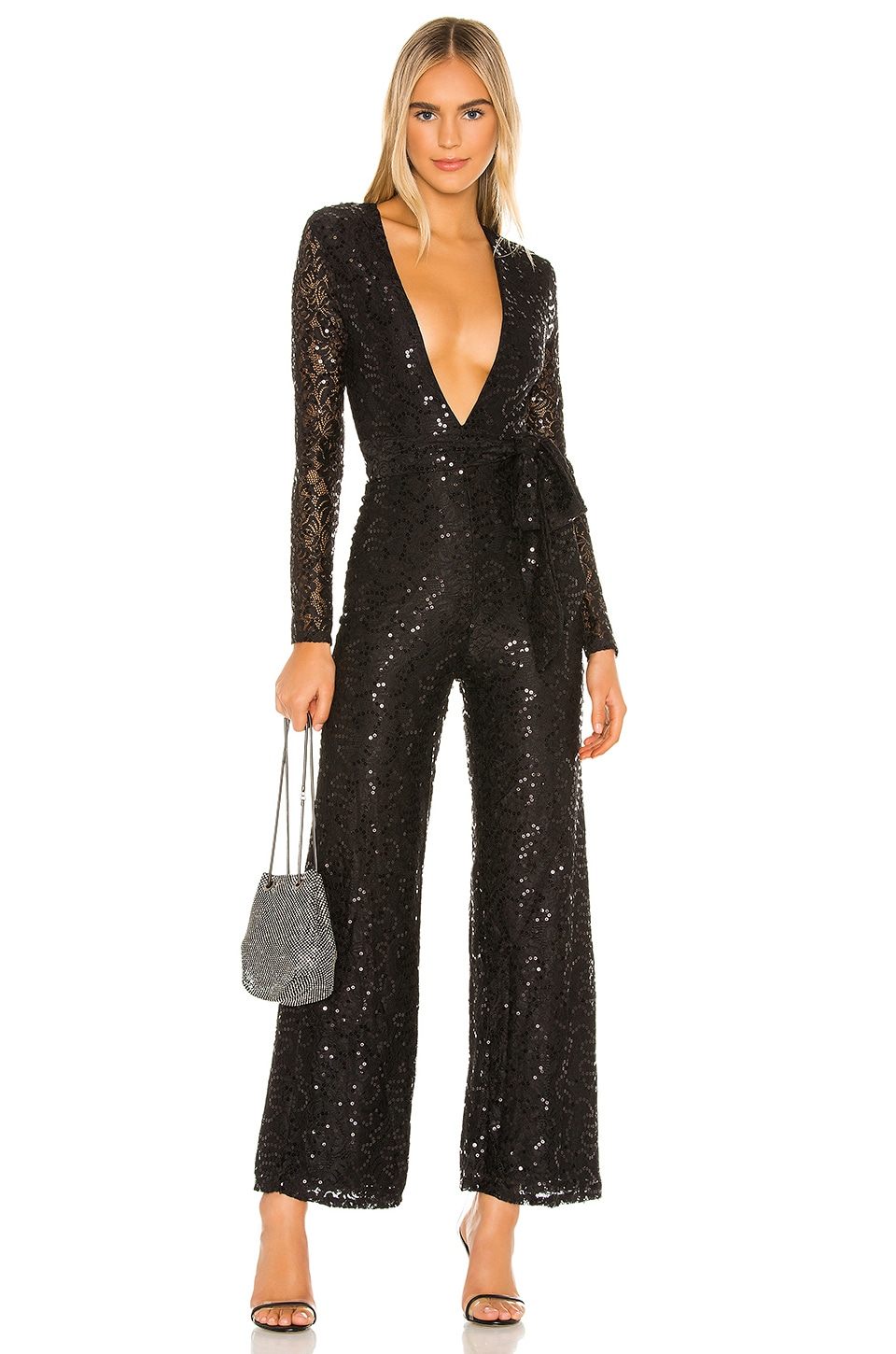 Lovers + Friends Leighton Jumpsuit in Black