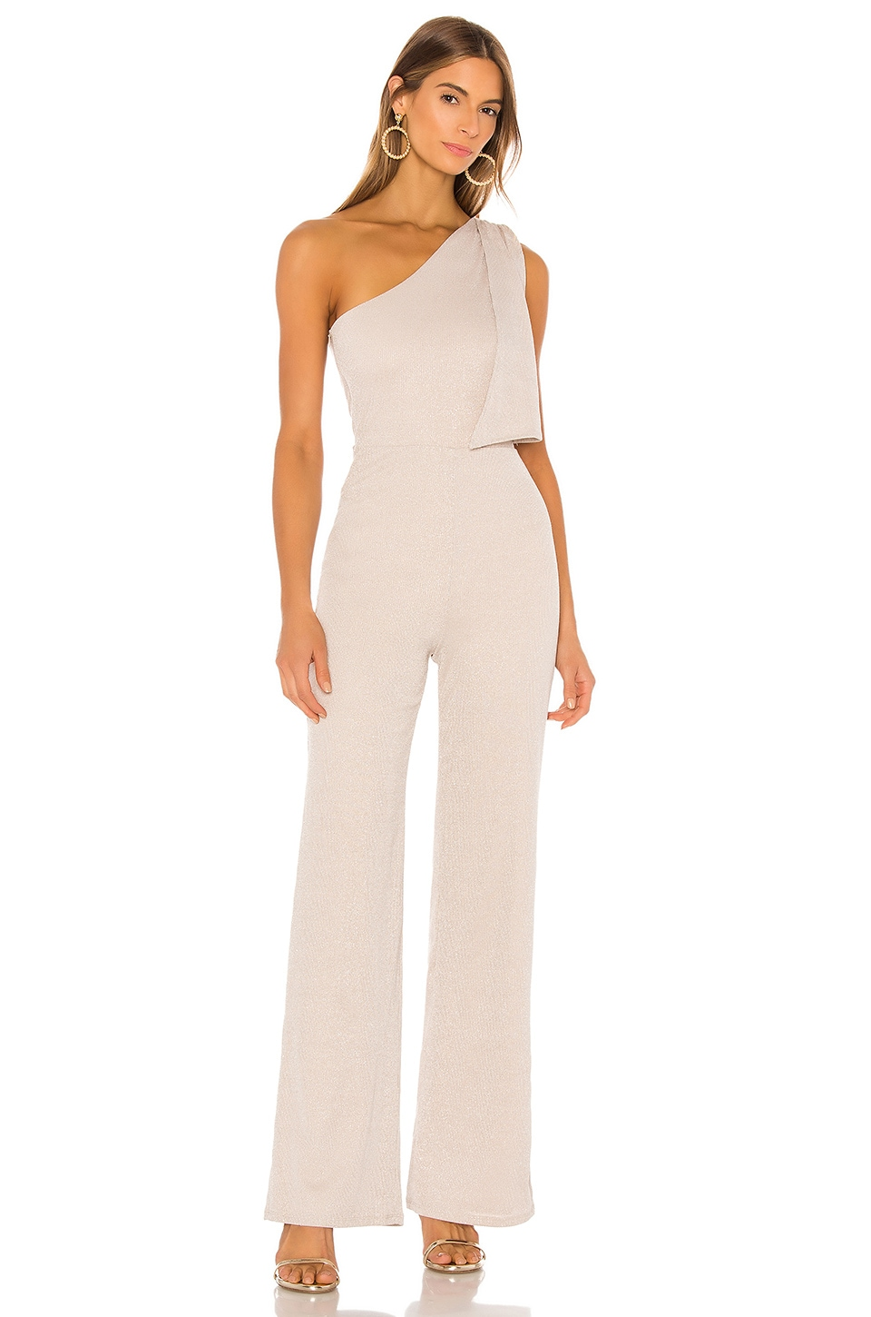 Lovers + Friends Castle Jumpsuit en Nude