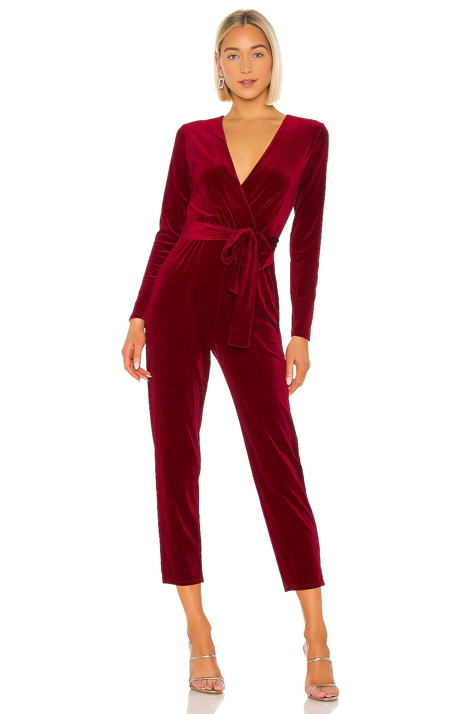 Lovers + Friends Hart Jumpsuit in Ruby Red