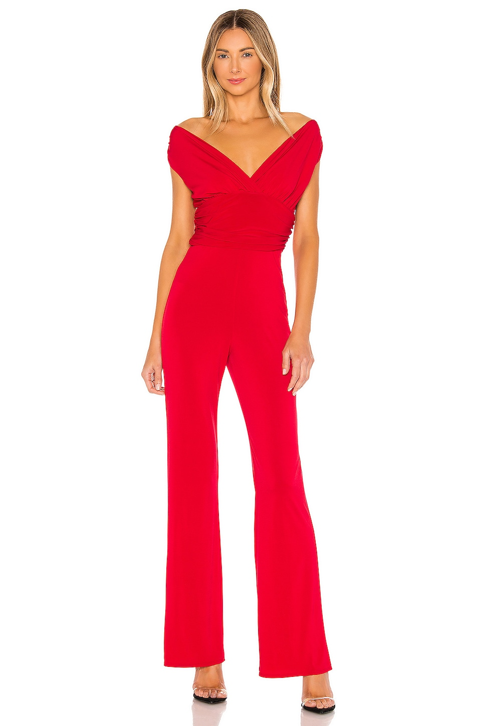 Lovers + Friends Croft Jumpsuit in Carmine Red