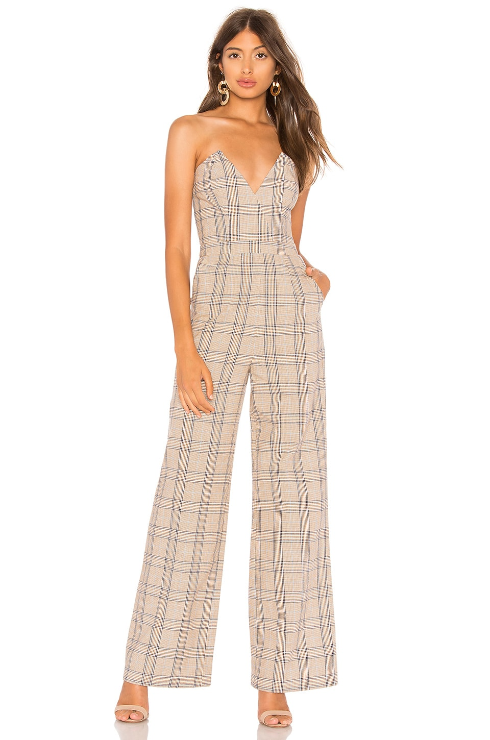 Lovers + Friends Grecia Jumpsuit in Walnut