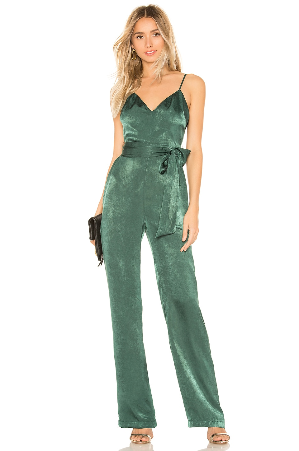 Lovers + Friends Penelope Jumpsuit in Hunter Green