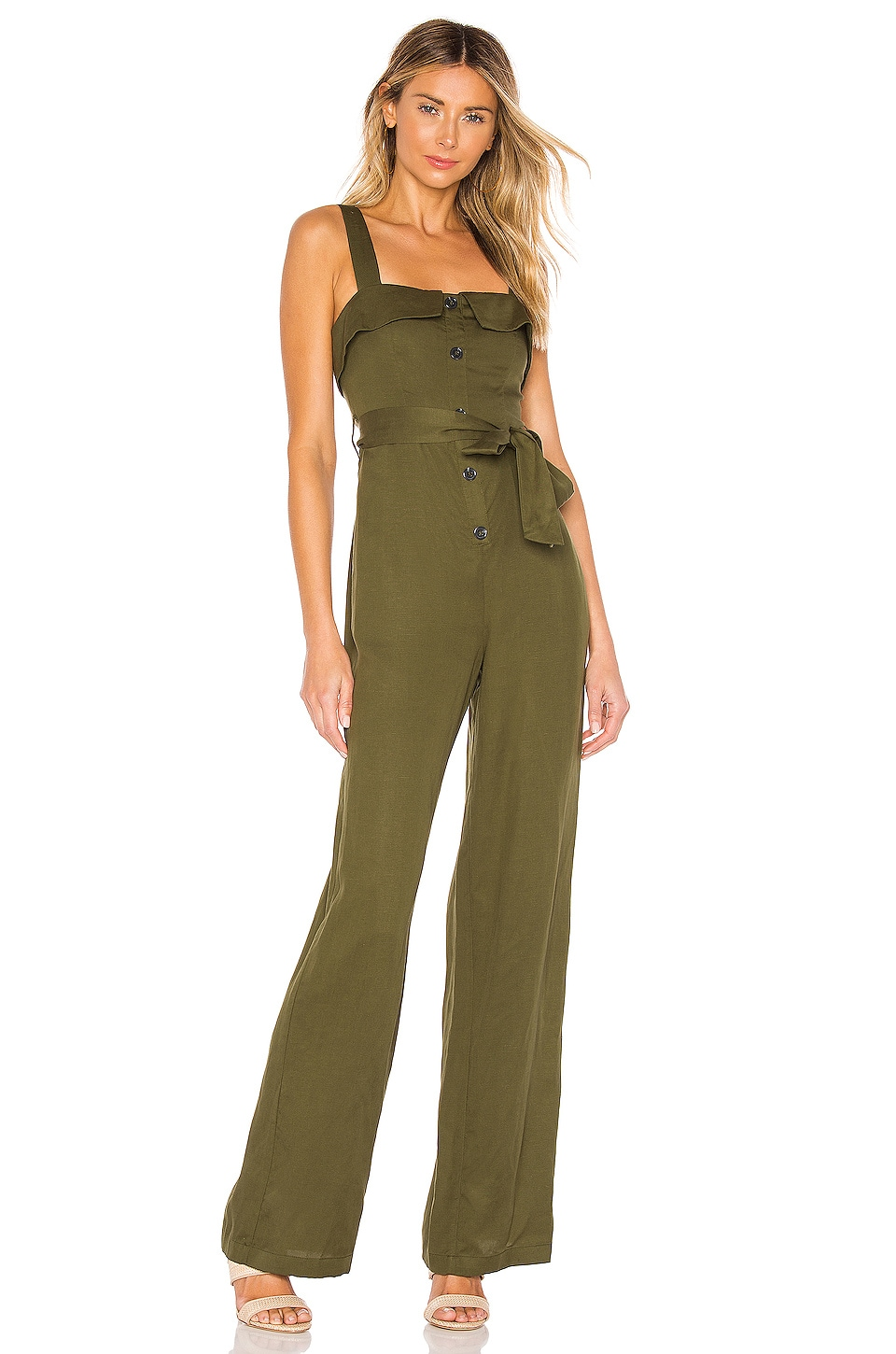 Lovers + Friends Arty Jumpsuit in Green