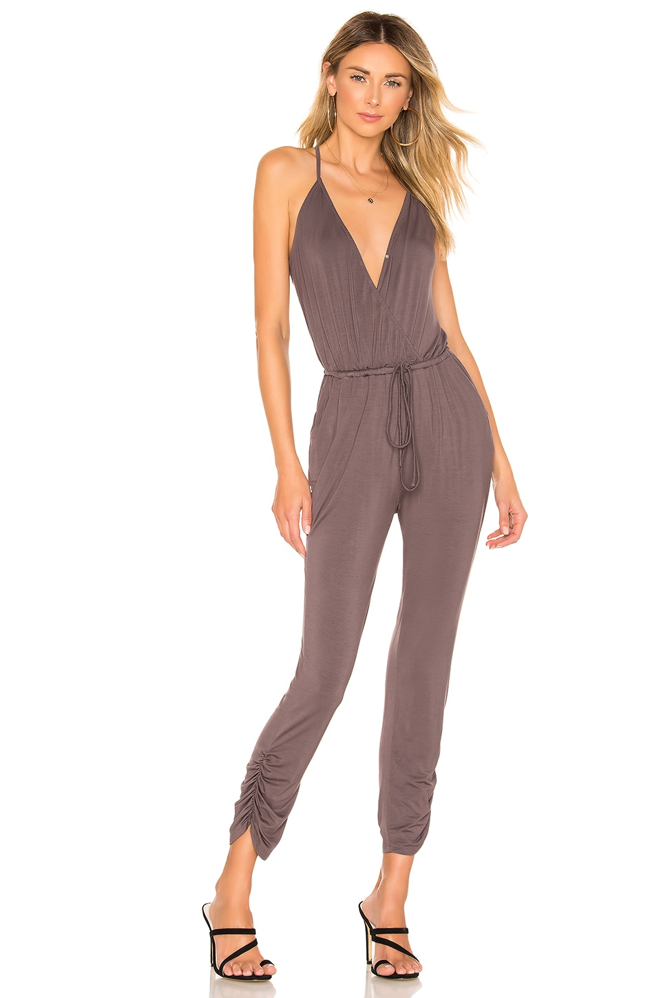 Lovers + Friends Molly Jumpsuit in Charcoal
