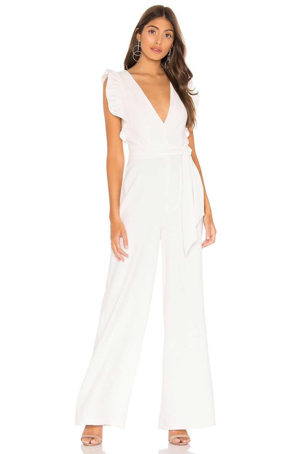 Lovers + Friends Marigold Jumpsuit in White