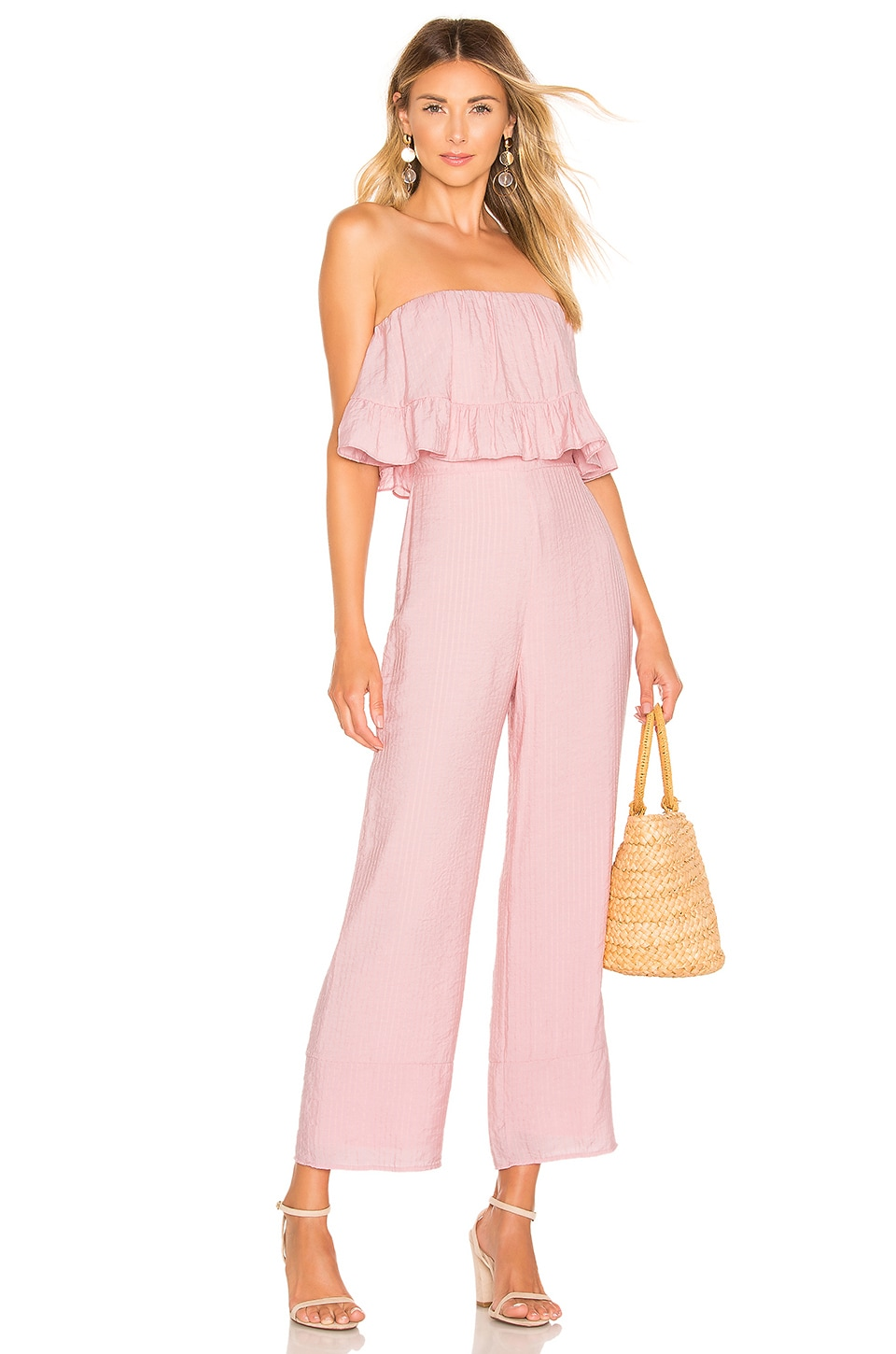 Lovers + Friends Nellie Jumpsuit in Coral