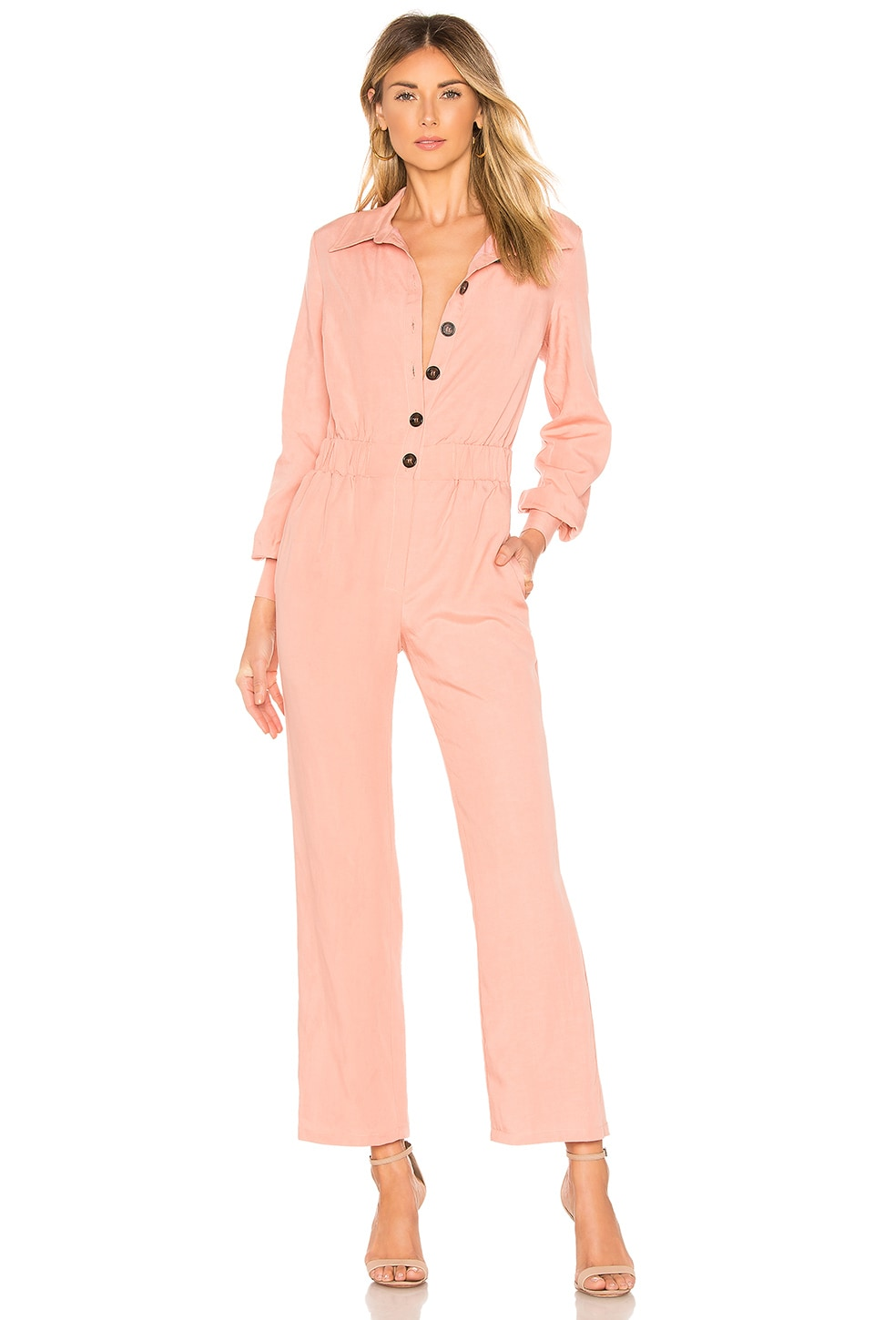 Lovers + Friends Karina Jumpsuit in Blush