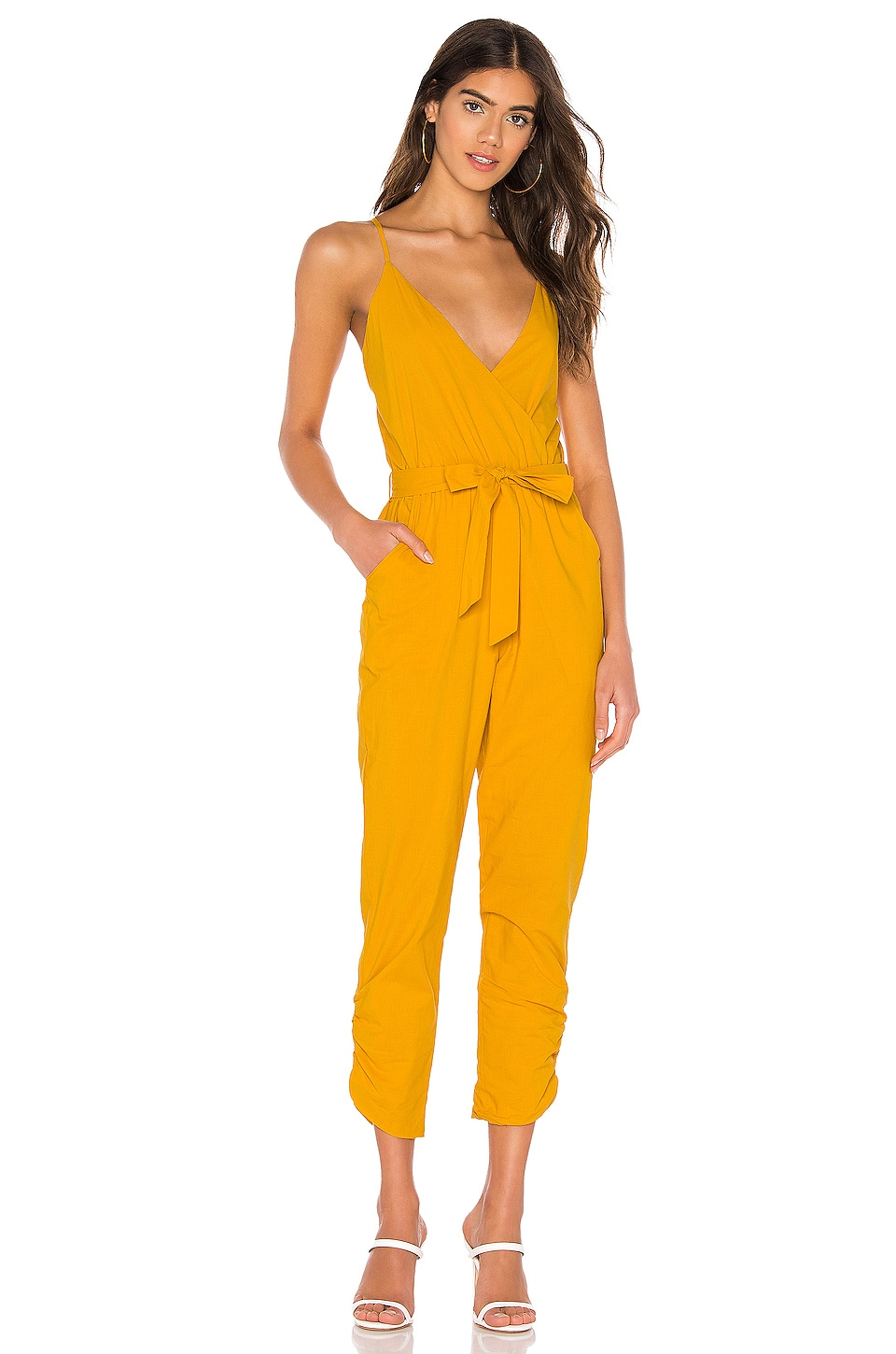 Lovers + Friends Emily Jumpsuit in Sunflower Yellow