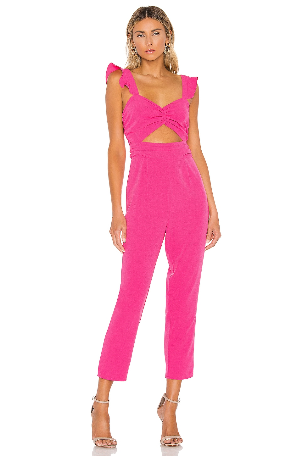 Lovers + Friends Knox Jumpsuit in Hot Pink