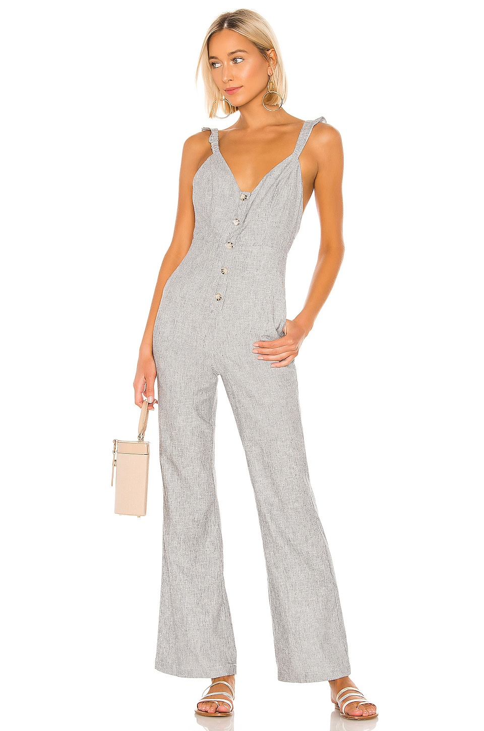 Lovers + Friends Kat Jumpsuit in Chambray