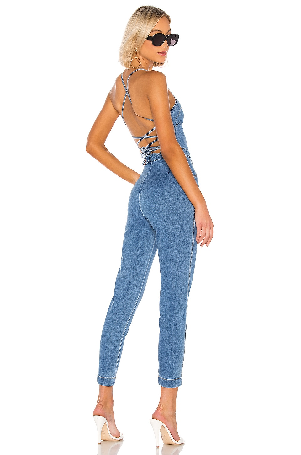 Lovers + Friends Sean Jumpsuit in True Blue