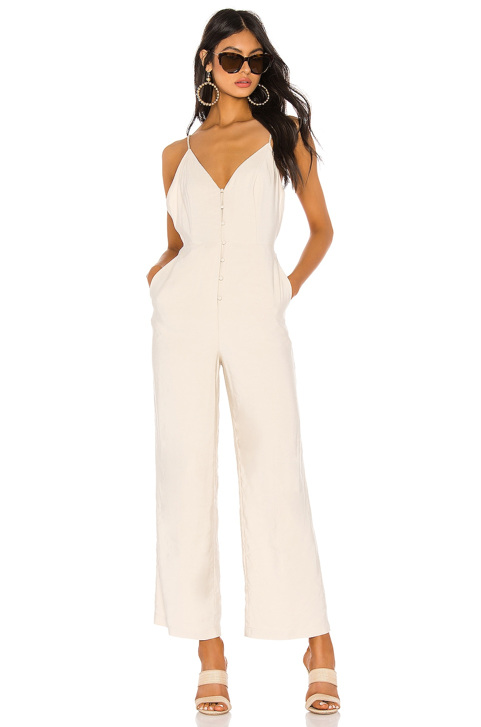 Lovers + Friends Jessica Jumpsuit in Nude