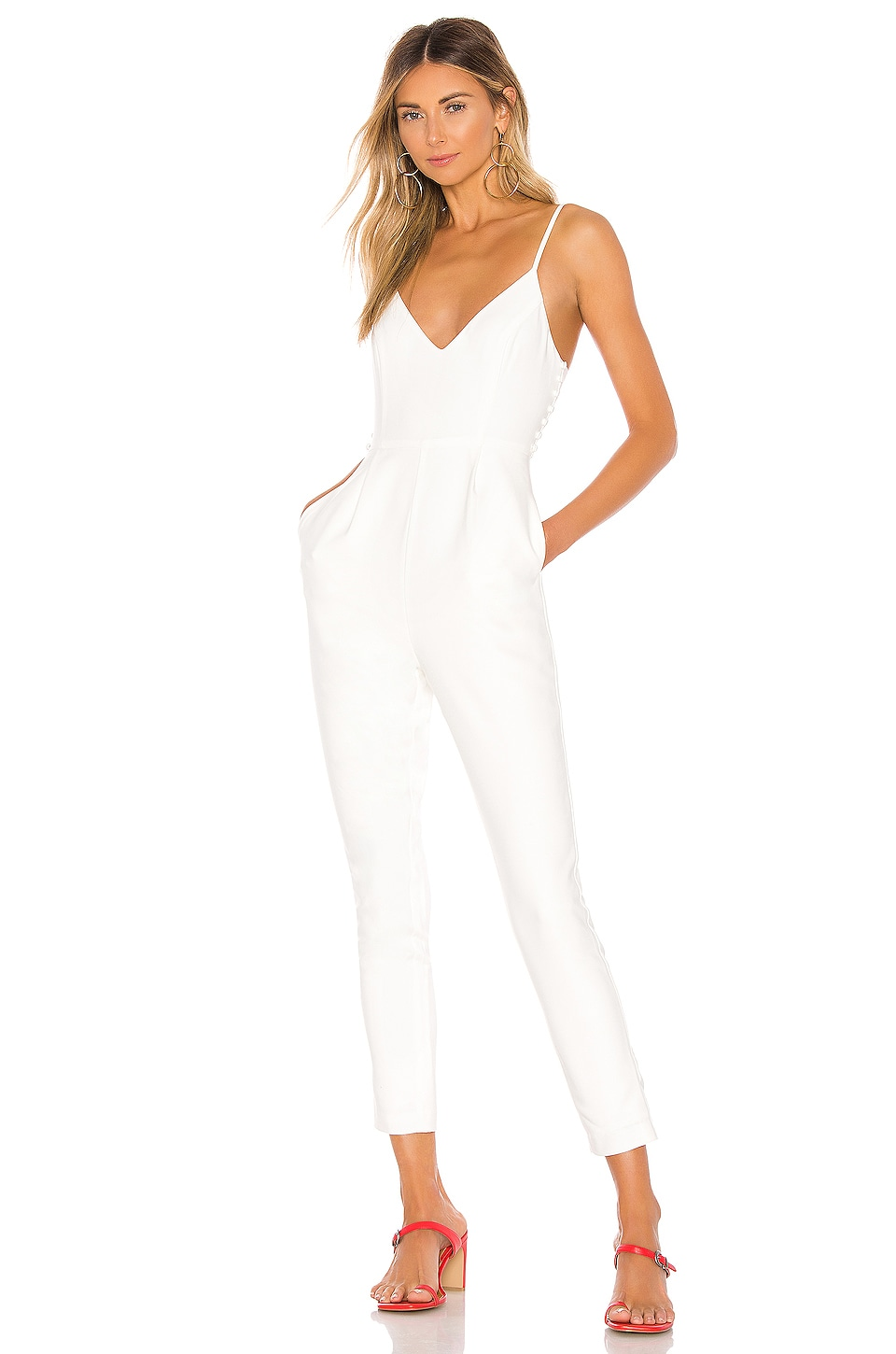 Lovers + Friends Norrie Jumpsuit in White