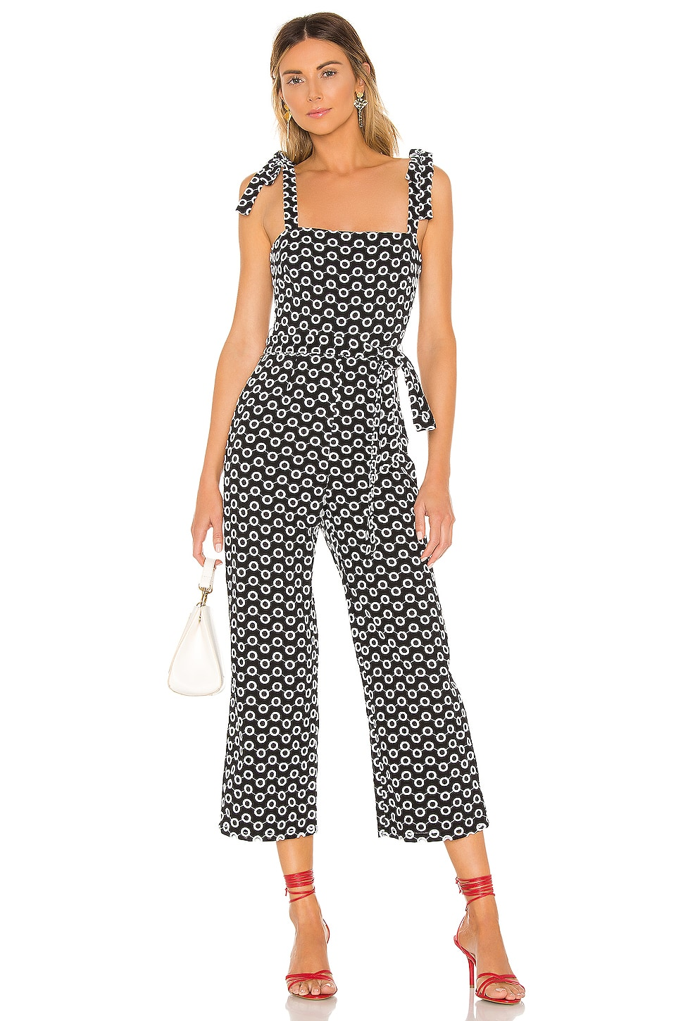 Lovers + Friends Willa Jumpsuit in Black & White