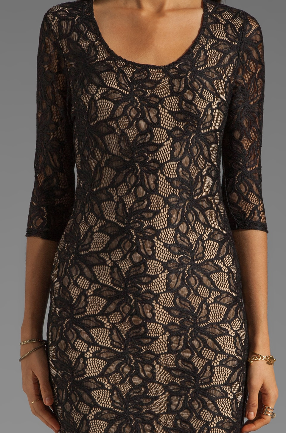 Lovers + Friends Sway Dress in Black Lace
