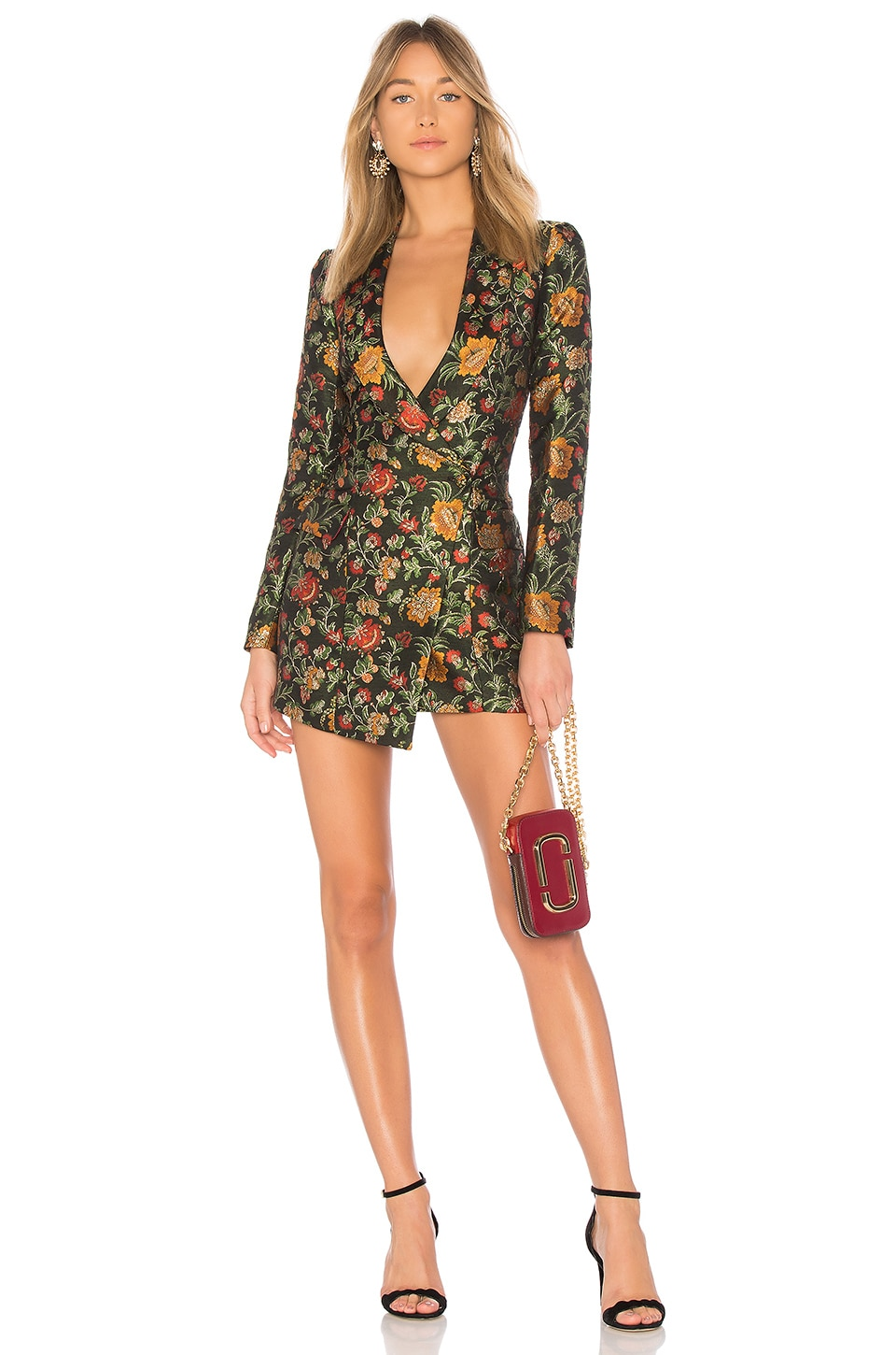 Lovers + Friends Ally Mini Dress in Black Floral