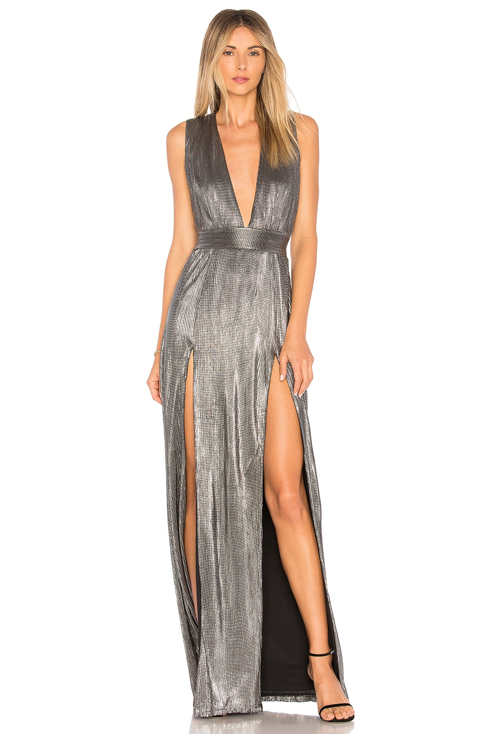 Lovers + Friends Naomi Dress in Silver