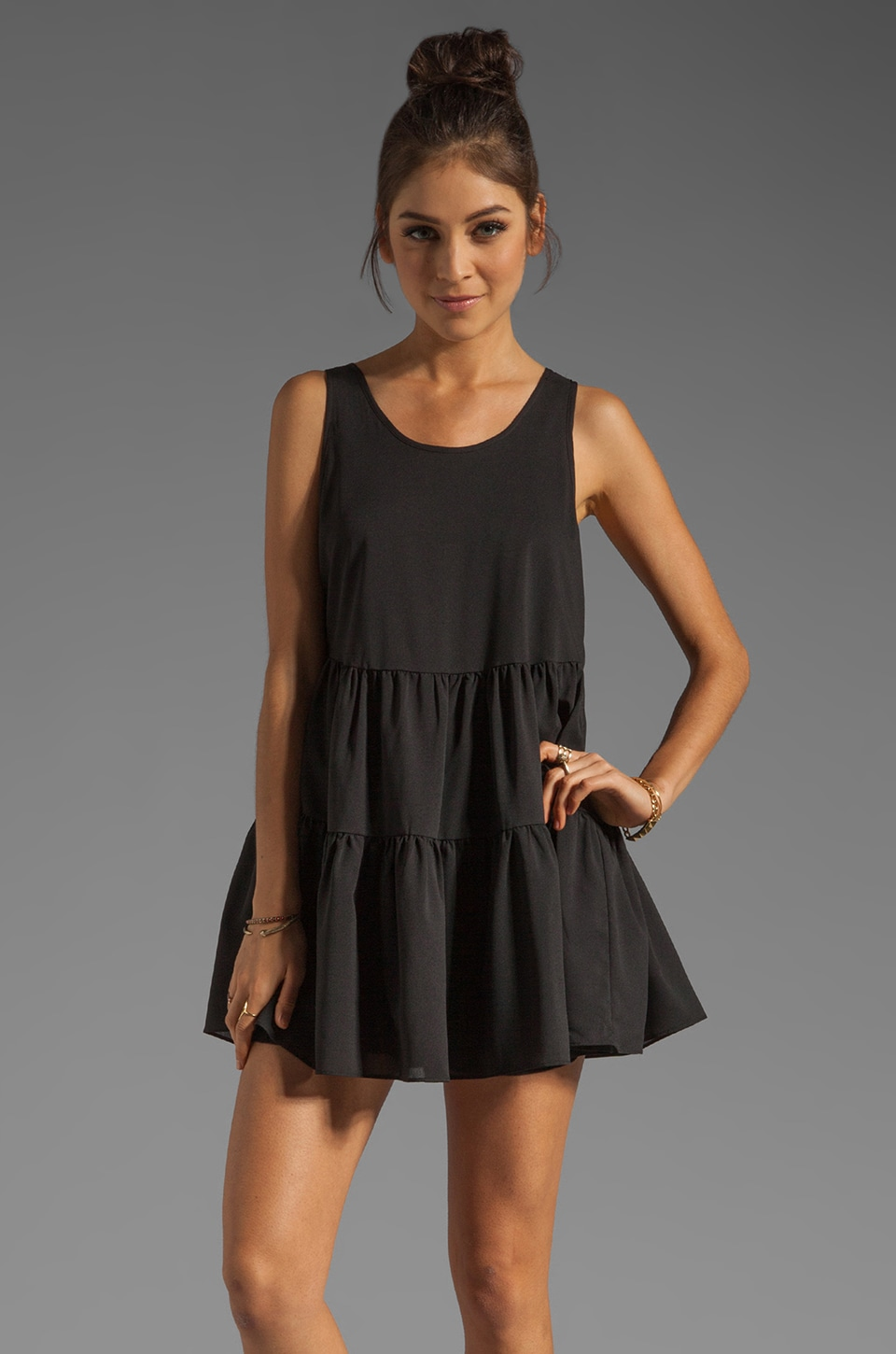 Lovers + Friends Angel Dress in Black