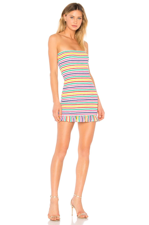 Lovers + Friends Burson Dress in Rainbow