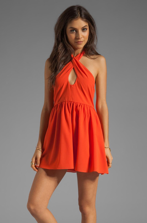 Lovers + Friends Sacred Heart Dress in Tangerine