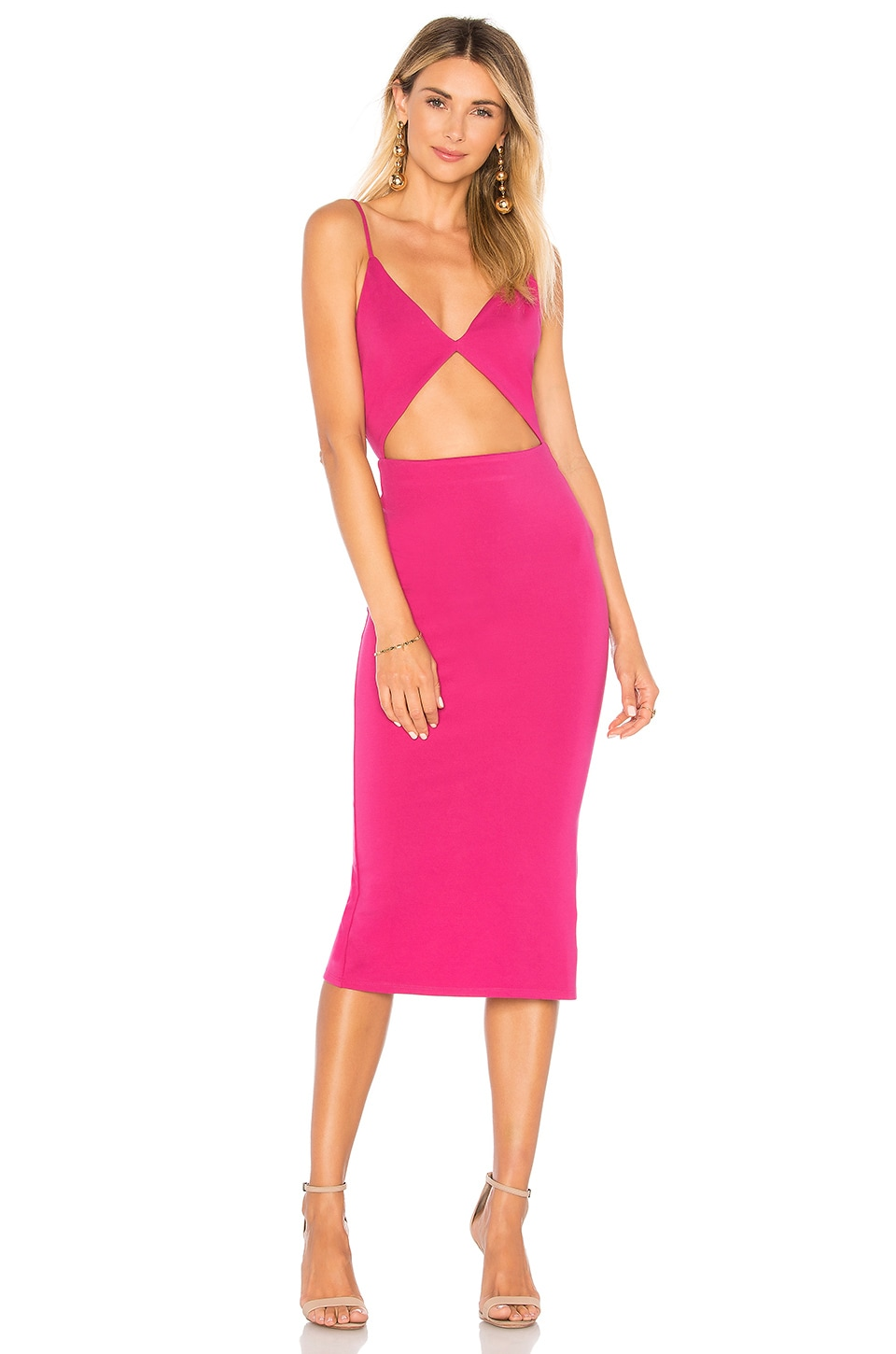 Lovers + Friends Paxton Dress in Magenta
