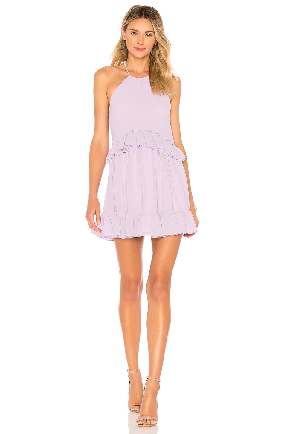 Lovers + Friends Banks Dress in Pastel Lilac