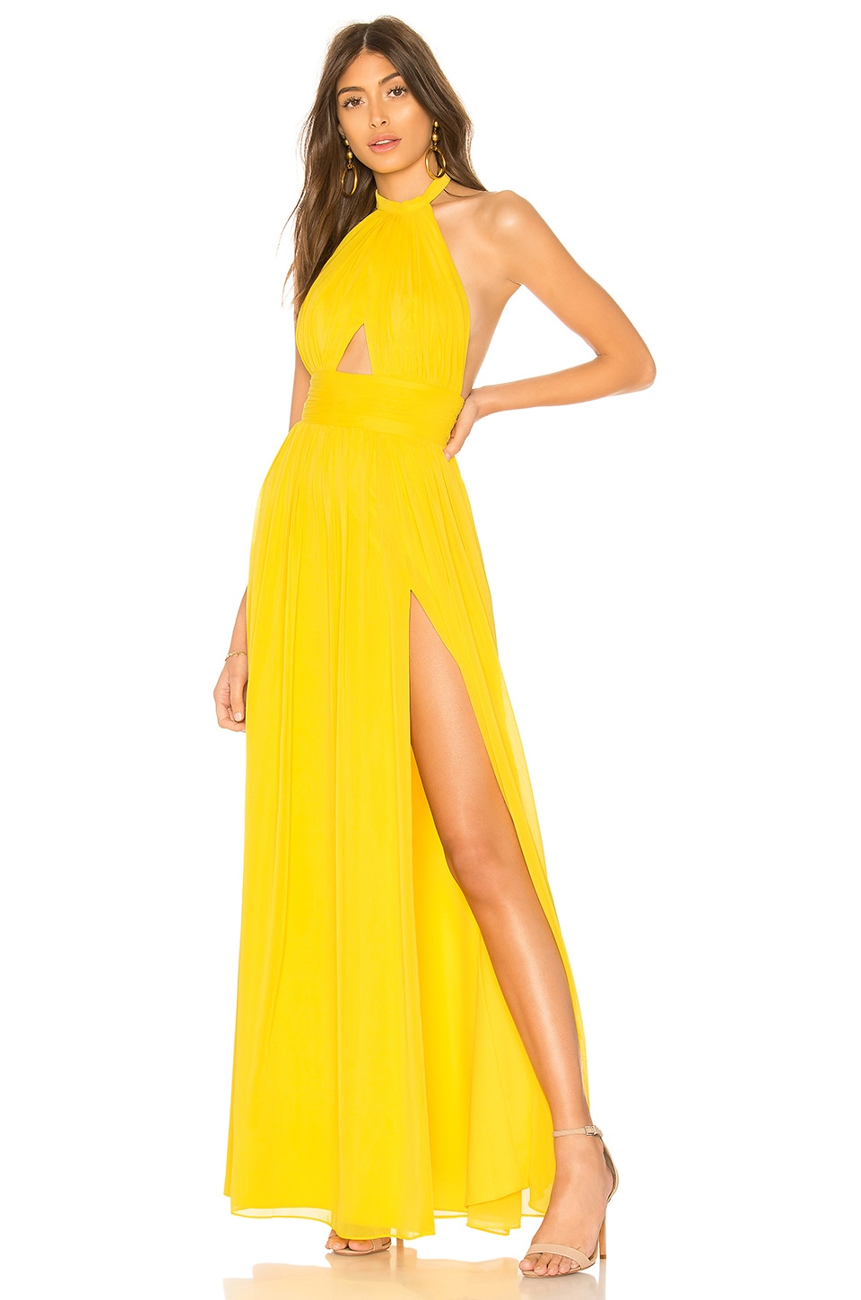 Lovers + Friends Hazel Gown in Canary Yellow