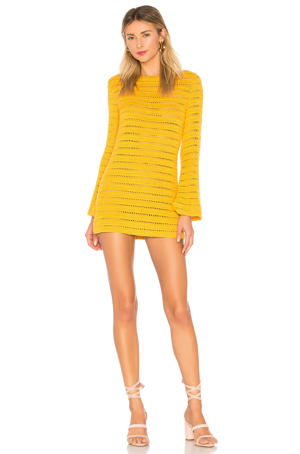 Lovers + Friends Amelia Dress in Canary Yellow