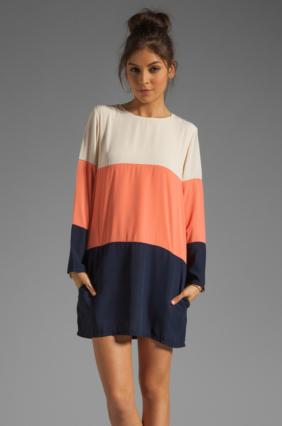 Lovers + Friends x BECAUSE IM ADDICTED Chic Dress in Colorblocked