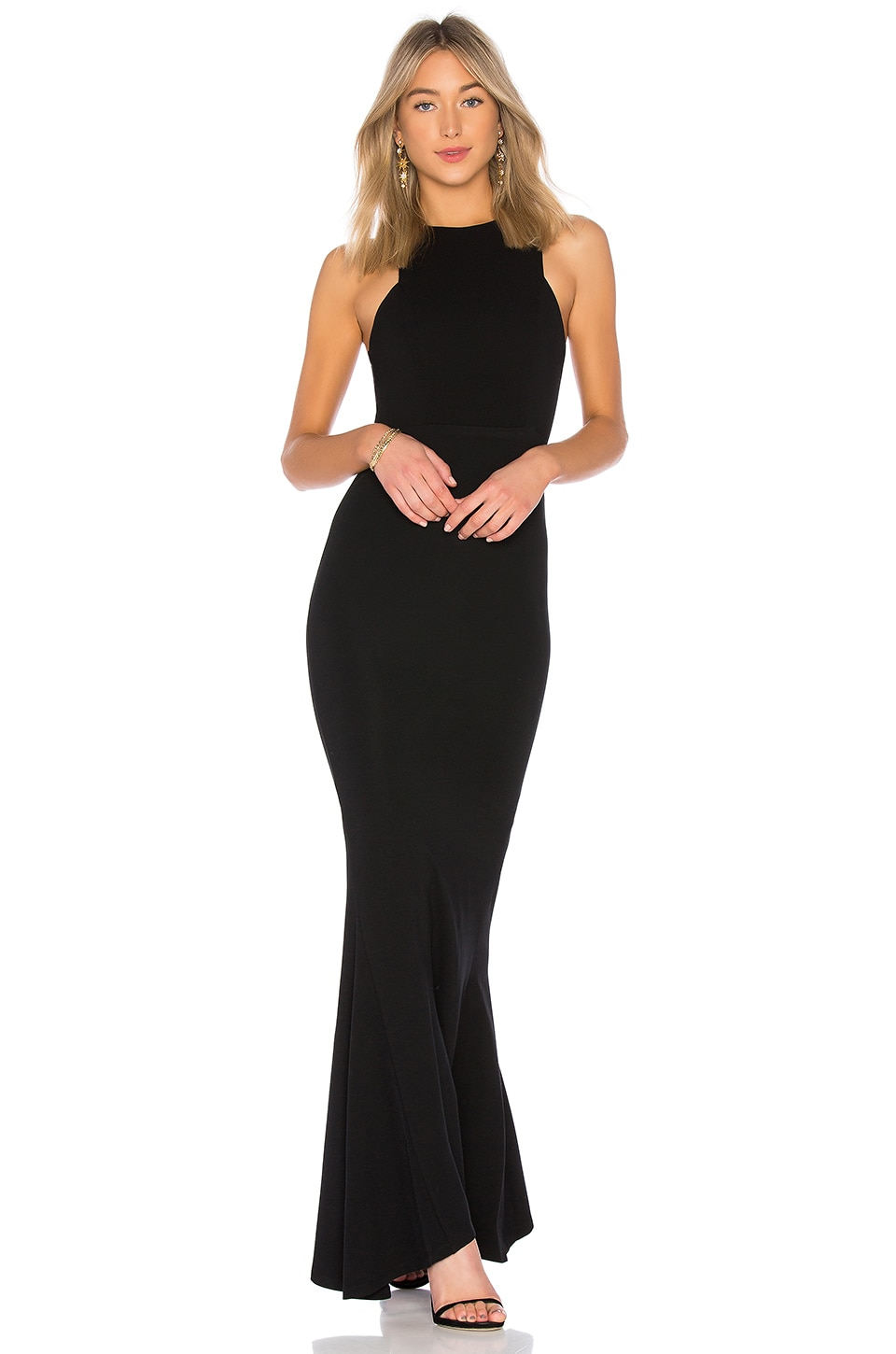 Lovers + Friends Abby Gown in Black