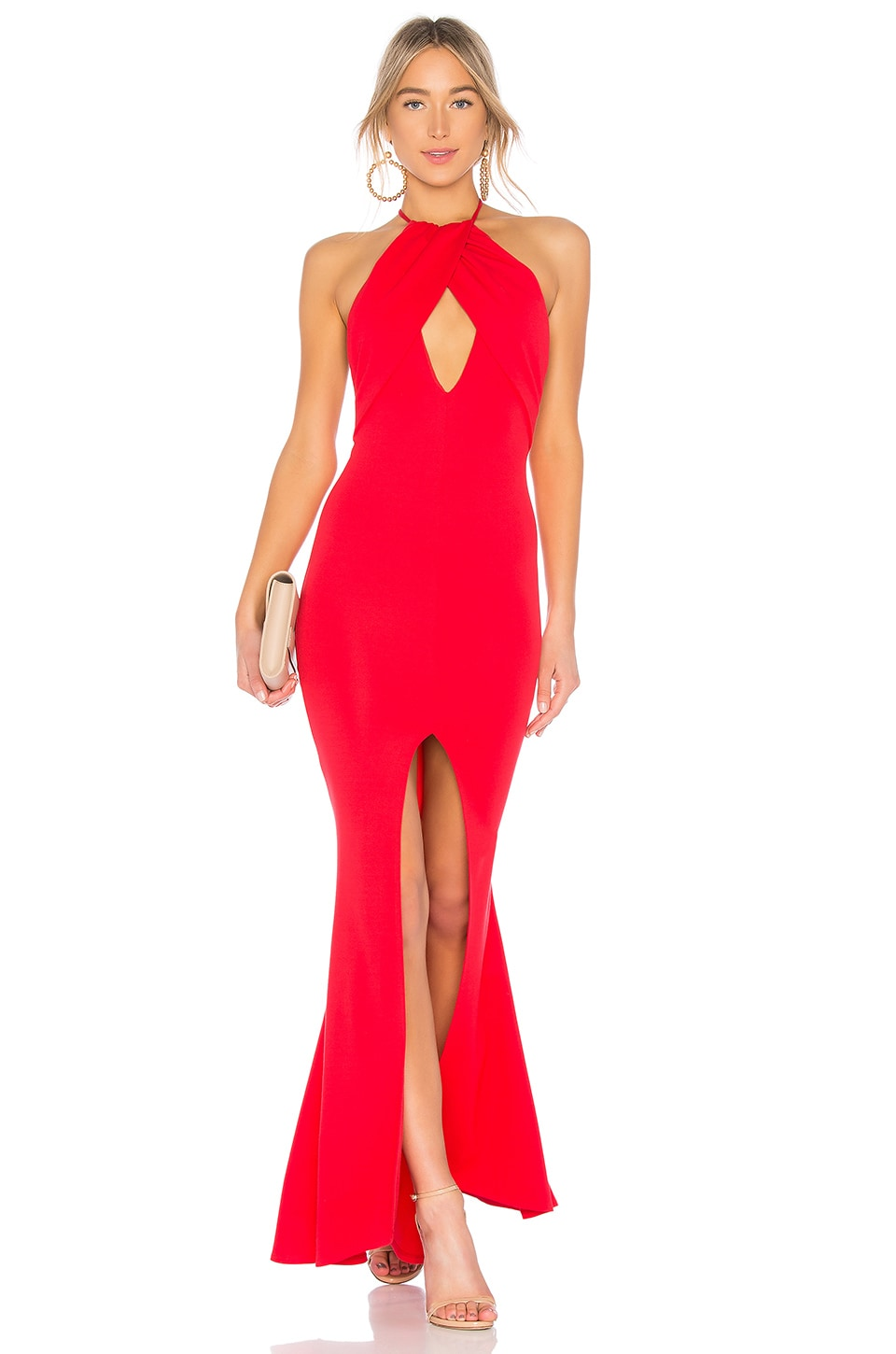 Lovers + Friends Rosa Gown in Red Rose
