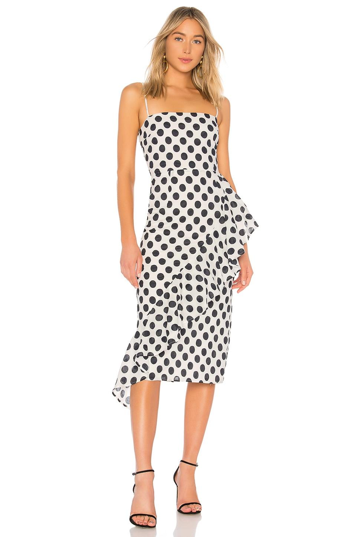 Lovers + Friends Ellie Midi Dress in Black & White