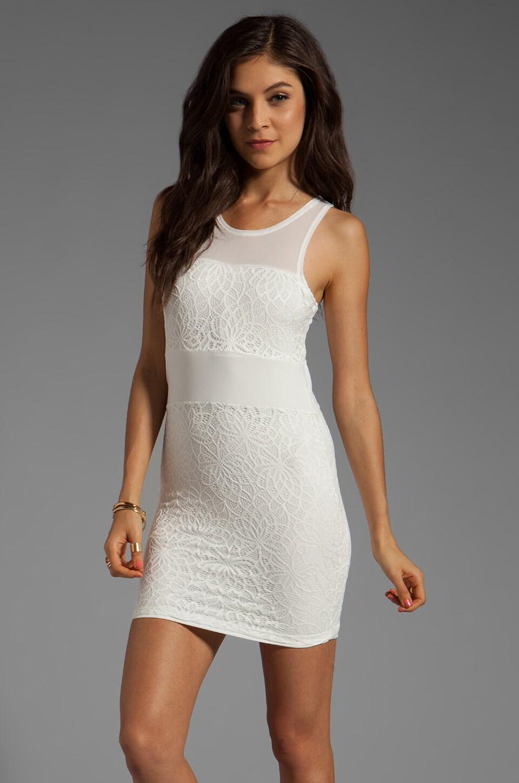 Lovers + Friends Hotness Mini Dress in White Lace