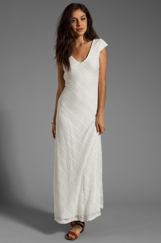 Lovers + Friends Vanity Fair Dress in White Stretch