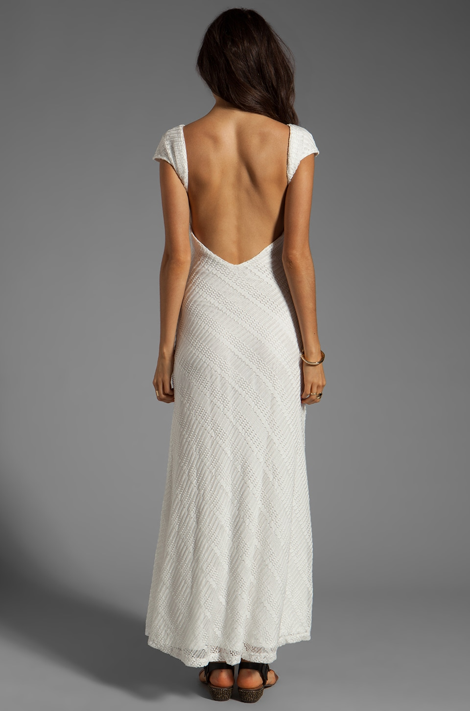 Lovers + Friends Vanity Fair Dress in White Stretch